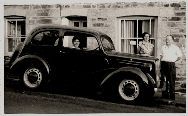 The Ford Anglia car we started with